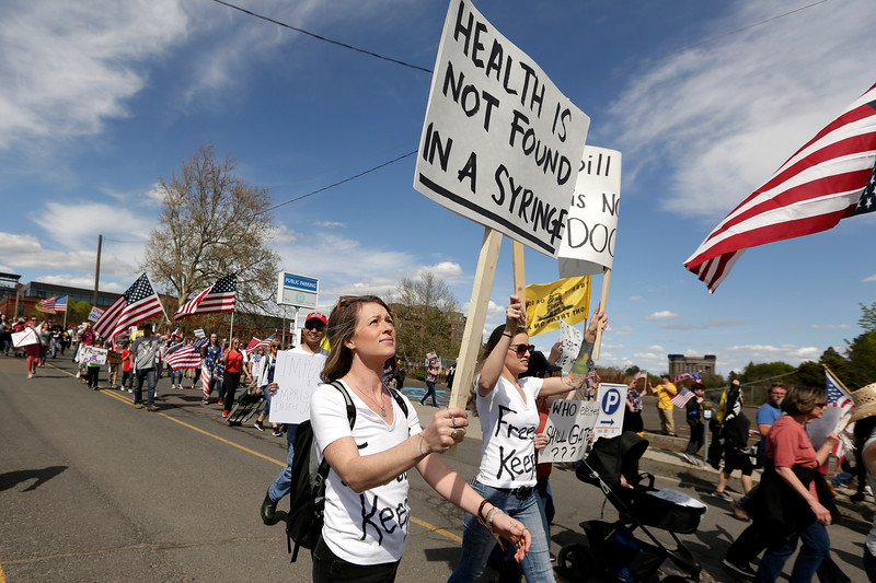 HEALTH-CORONAVIRUS/USA-PROTESTS