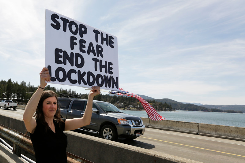 North Idaho Stay At Home Protest