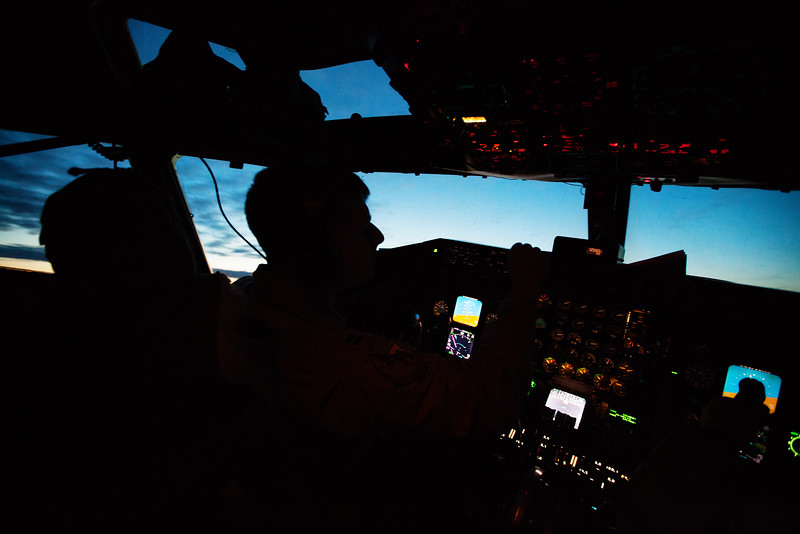 USAF Pilot Captain Joe D'Agostino flies a KC-135 from Fairchild Air Force Base, in Spokane County, Wash., on Tuesday, Dec. 10, 2013. (Young Kwak/The Pacific Northwest Inlander)