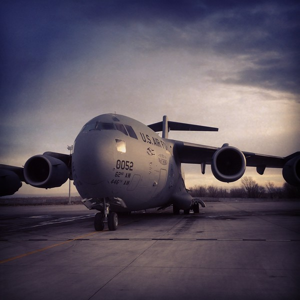 "Instagram photo of a C-17 on the flight line at the Transit Center at Manas. <a href=""https://www.instagram.com/p/h7jGU2iblU"">https://www.instagram.com/p/h7jGU2iblU</a>"