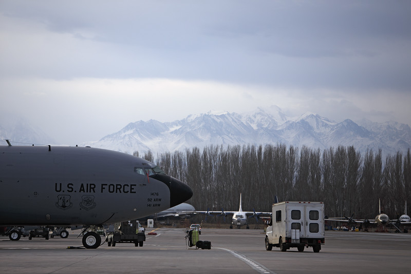 A KC-135 is photographed at the Transit Center at Manas, Kyrgyzstan, on Sunday, Dec. 15, 2013. (Young Kwak/The Pacific Northwest Inlander)