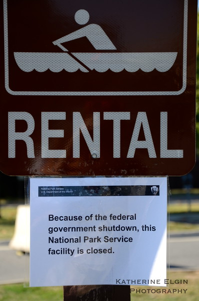 Parks and boathouses across D.C. were closed to the public.