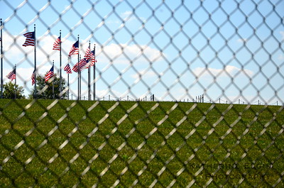 The Washington Monument—still under construction to repair damages from the 2011 earthquake that hit Virginia and surrounding regions—is blocked off by fencing. Access to the monument was unaffected by the shutdown, since the monument was previously closed for construction.