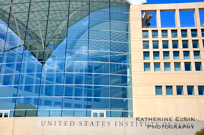 """The United States Institute of Peace had no signs indicating it was closed, but as a federally funded organization it was shut down for """"ordinary business."""" The Institute's website describes the organization as """"a powerful symbol, representing America's commitment to peace and our country's abiding interest in avoiding the staggering costs of war—both human and fiscal."""""""