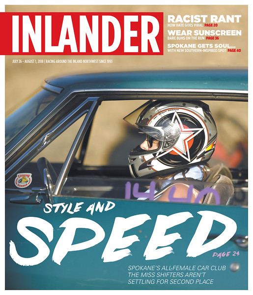 Issue date: Thursday, July 26, 2018. Art Director: Derek Harrison. Photographer: Young Kwak. Miss Shifters member Jessica Boller sits in her 1967 Chevrolet Camaro before the first Powder Puff elimination round, during the Summit #6 Sugar Bear Memorial at the Spokane County Raceway in Airway Heights, Wash., Saturday, July 14, 2018.