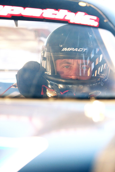 Monroe, Wash. resident and Driver John Zaretzke (51) waits to begin a heat before the Spokane 200 at the Spokane County Raceway oval track, in Airway Heights, Wash., on Saturday, August 25, 2012. (Young Kwak/The Pacific Northwest Inlander)