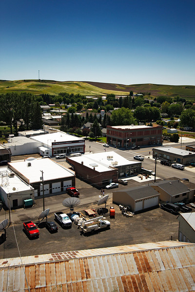 The town of St. John, Wash. is photographed from the Whitgro, Inc. grain elevator, on Wednesday, July 7, 2010. (Young Kwak Special to the Pacific Northwest Inlander)