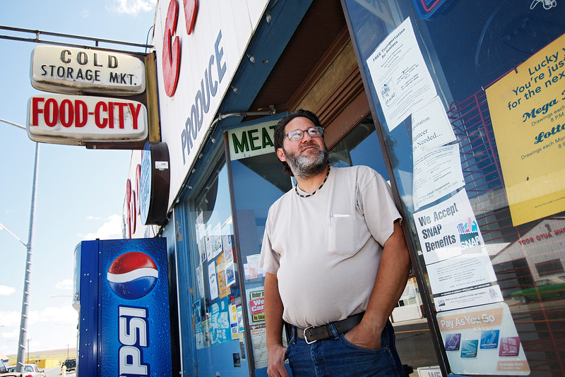 Bob Thompson poses fro a photograph in front of Cold Storage Market Food City, a grocery store which closed in April 2010, in St. John, Wash. on Tuesday, July 6, 2010. Thompson states that the market closed after the overhead became too high. He had been struggling with the business financially for 4 years previously. Though not a native of St. John, he plans on staying in the area. He originally purchased the store in 1987 after he saw a grocery store for sale, while living in the Tri-Cities area. (Young Kwak Special to the Pacific Northwest Inlander)