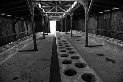 The toilets, Birkinau.