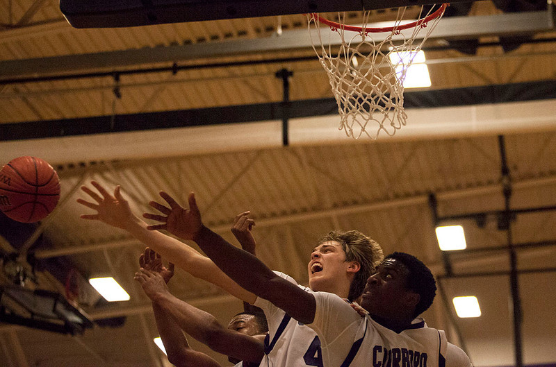 Carrboro fights for the ball. They are relentless in during every game. Their coaches have said they have never seen a harder working group of boys and they are extremely proud of how far they have come.