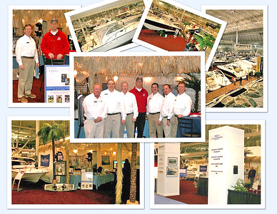 A collage of boat show shots