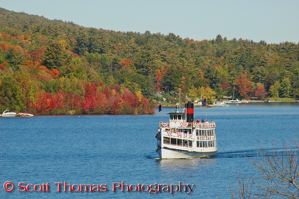"""The 2008 Columbus Day weekend in upstate New York was one for the ages.  Weather could not have been better with Summer-like warmth and cool, pleasant nights.  I travelled to the resort <a href=""""http://stphoto.wordpress.com/2008/10/13/view-42-lake-george-new-york/"""" target=""""new"""">village of Lake George, New York</a> looking for colorful fall foliage in the lower Adirondacks and wasn't disappointed.  The Queen of American Lakes as Lake George is aptly known as enhanced the colors with its clear blue waters."""