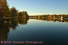 The Seneca River just west of the Erie Canal's Lock 24 in Baldwinsville, New York, reflecting the colors of the season.
