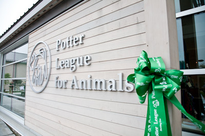 """Enriching Lives"" is the Potter League philosophy, one which touches every aspect of the shelter; from the commitment and spirit of it's staff, volunteers, board members and donors, to the happy furry residents, to the quality of the shelter's design."