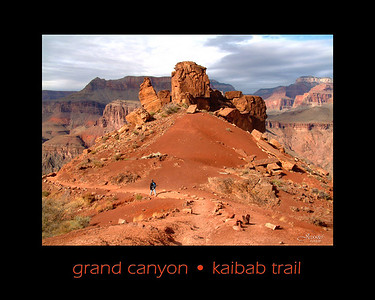 For most of its 6.5 mile length the South Kaibab Trail follows the top of a ridge and has extensive views of the Grand Canyon. The trail descends 4,800 feet to the Colorado River. ORDER #512313