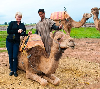 Valerie and camel-trainer