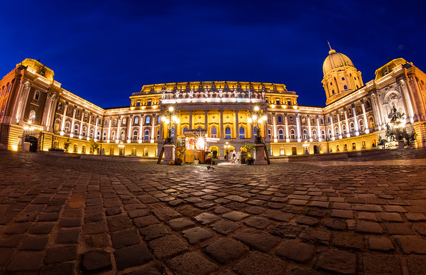 Buda Castle and the national Hungarian gallery.  Buda Castle is the historical castle and palace complex of the Hungarian kings in Budapest. It was first completed in 1265, but the massive Baroque palace today occupying most of the site was built between 1749 and 1769.