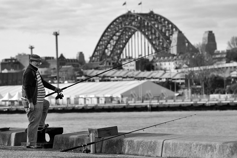Fishing by the Pyrmont Bay