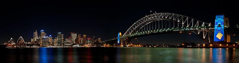 Light installation on the bridge pylon | Road Safety Awareness
