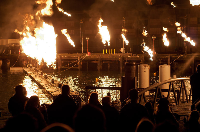 Fires during the Vivid lights events