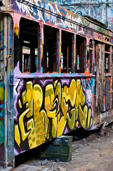 Inside the abandoned Tram Sheds in Glebe