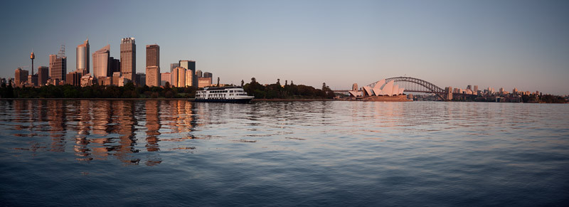Panorama of the CBD, shortly after the first rays of the rising sun