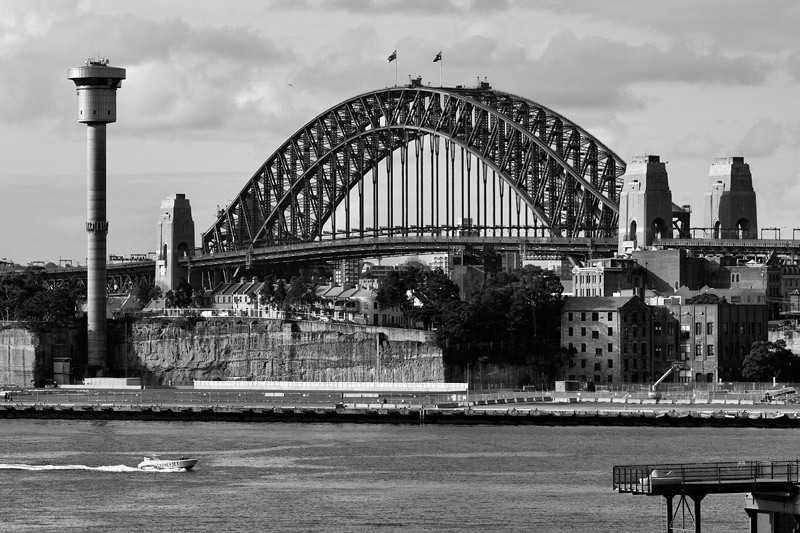 View of the Harbour Bridge from Pyrmont Park