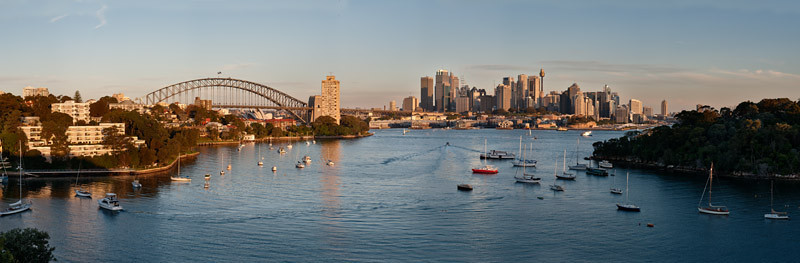 Panoramic view from Waverton - A must see for everyone visiting Sydney!