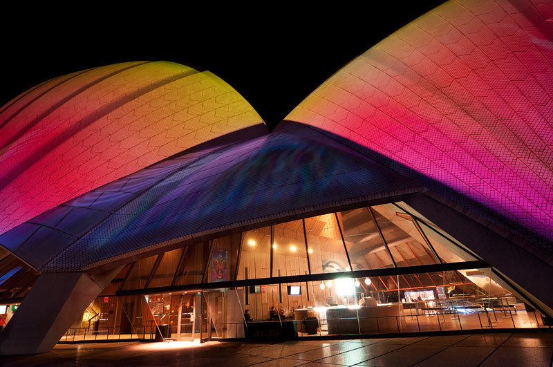 Colourful Opera sails