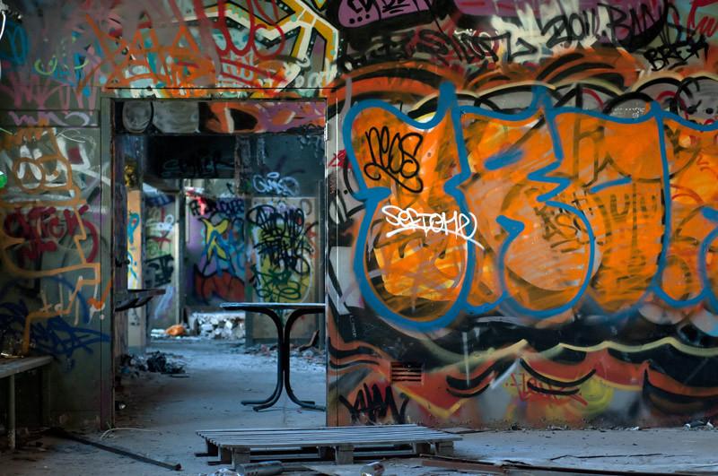 Inside the abandoned Tram Sheds in Glebe