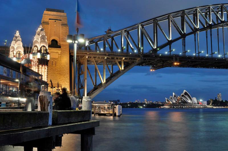 Dusk at Sydney harbour