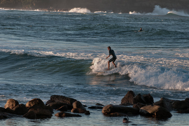 Surfing at Avoca beach (Central Coast)