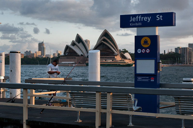 Fishing opposite the Opera House...