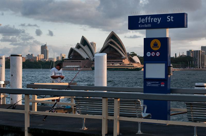Fishing opposite the Opera House...