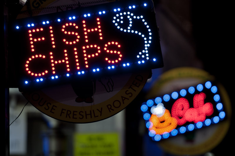 "Or, why not, ""Chips and Fish""?"