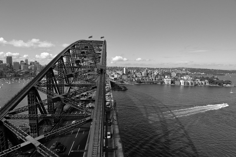 Sydney from above (looking towards Kirribilli)