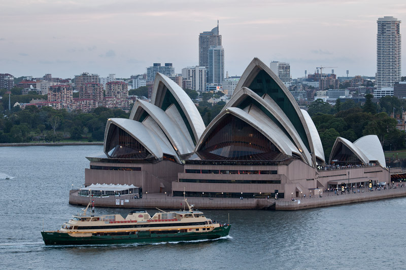 Sydney Opera House and... a ferry
