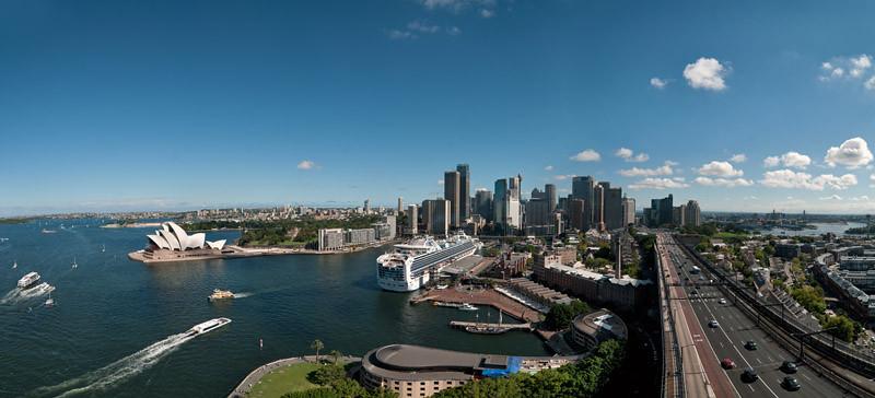 The Sydney CBD from above