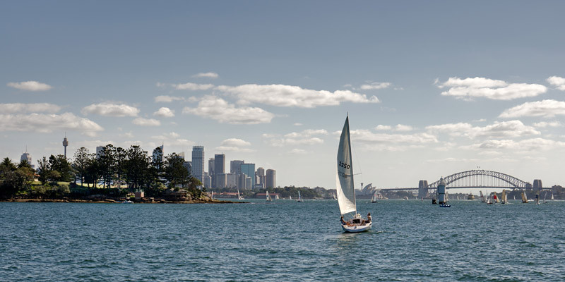 View from the ferry going to Watsons bay