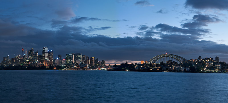 Dusk view from Cremorne Point.<br /> Not an HDR by the way (just right shooting time!)