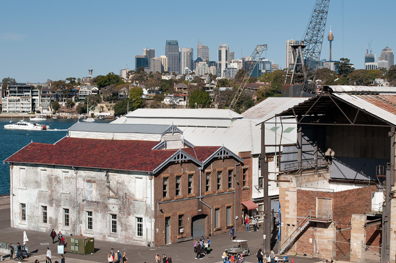 On the Cockatoo island (the CBD in the background)