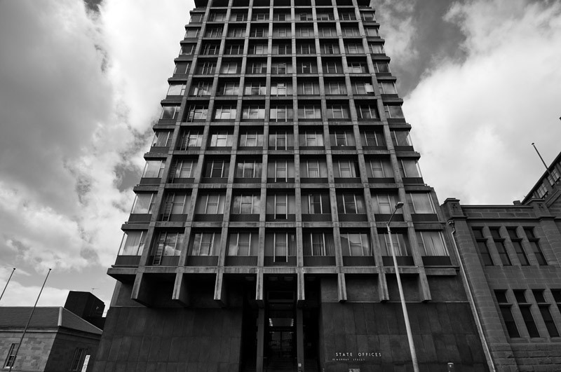 """Communist era looking building in the CBD of Hobart. Name of building """"State Offices""""...!"""