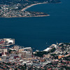 Hobart from the peak of Mt Wellington (1271m altitude)