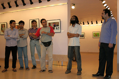 "Suchit Nanda giving a talk at the launch of the inaguration ""Below the Poverty Line"". A photography exhibition held from 25th to 30th September, 2007 at the Drik Gallery, Dhaka. The exhibition was part of a series of activities carried out under UNESCO's Artist in Development Programme funded by the Norwegian Ministry of Foreign Affairs (Norwegian Embassy). Suchit is a majority world photographer and regularly contributes to http://www.majorityworld.com/"