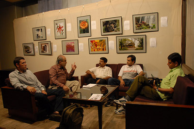 Free technical training session & free discussion - at the exhibition for those interested in photography.