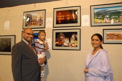 Sunny Sriram with his wife & son.