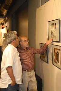 Swapan explaining a finer point to Hariharan