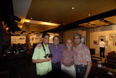 Four photographers from the show. Seen from left to right. Venky (Venkatesh Hariharan), Suchit Nanda, Swapan Mukherjee, and Mukesh Trivedi.