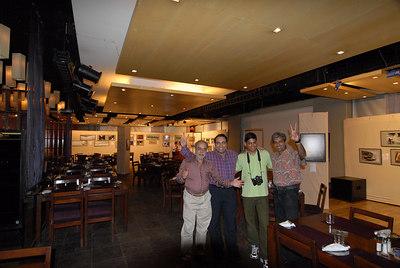 Four photographers from the show. Seen from left to right. Swapan Mukherjee, Suchit Nanda, Venky (Venkatesh Hariharan), and Mukesh Trivedi.