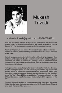 Photographer Mukesh Trivedi
